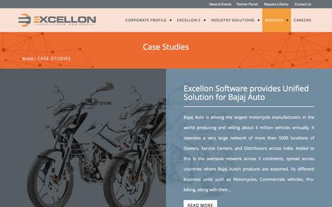 Screenshot of Case Studies Page excellonsoft.com - Case Studies - Excellon software - captured Nov. 13, 2016