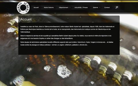 Screenshot of Home Page bertinaubert.com - Accueil - Bertin Aubert IndustriesBertin Aubert Industries - captured Feb. 7, 2016