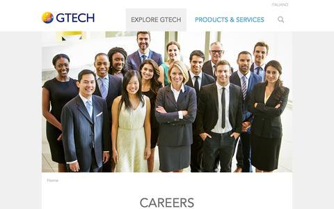 Screenshot of Jobs Page gtech.com - Careers | GTECH.COM - captured Oct. 29, 2014