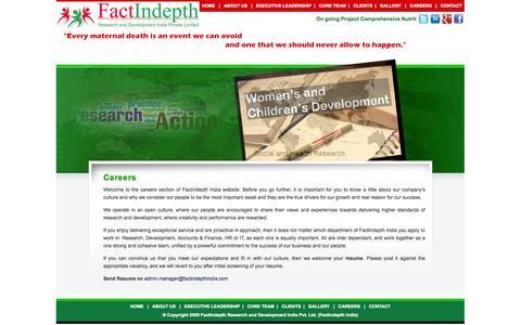 Screenshot of Jobs Page factindepthindia.com - :: FactIndepth India :: - captured Oct. 5, 2014