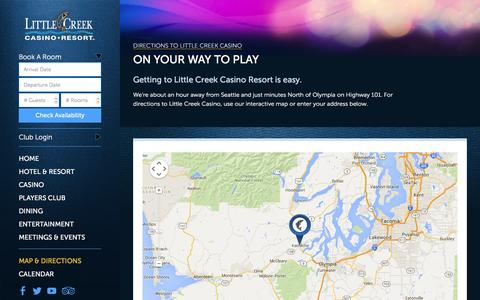 Screenshot of Maps & Directions Page little-creek.com - Little Creek Casino Map and Directions - captured Jan. 30, 2016