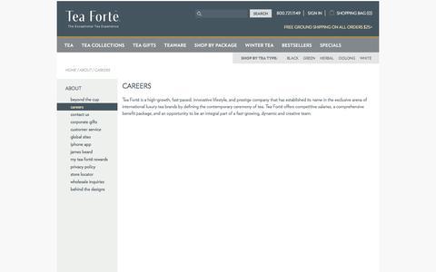 Careers at Tea Forté