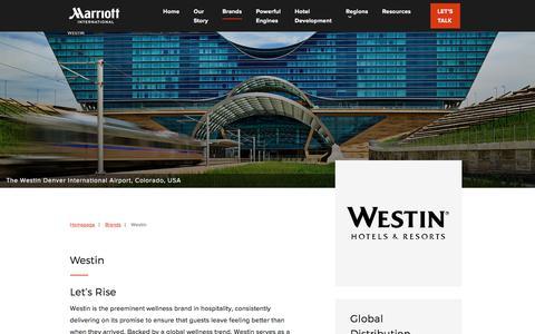 Screenshot of Developers Page marriott.com - Westin - Marriott Hotels Development - captured June 30, 2018