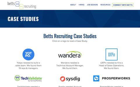 Case Studies: Sales Recruitment | Betts Recruiting