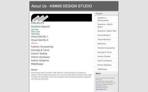Screenshot of About Page kimms.nl - About Us - KIMMS DESIGN STUDIO - captured Oct. 15, 2018