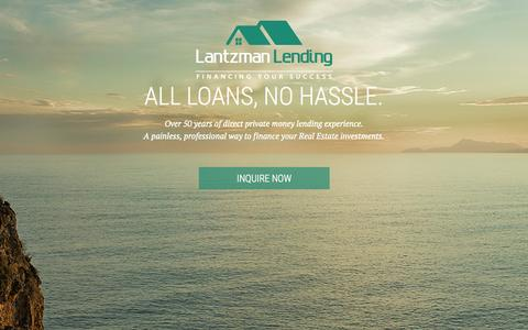 Screenshot of Home Page lantzmanlending.com - Direct Private Money Lending | Lantzman Lending - captured July 19, 2015
