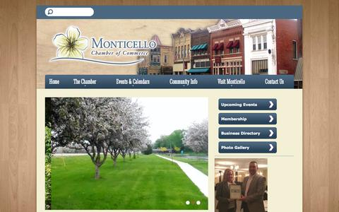 Screenshot of Home Page monticello-wi.com - Monticello Chamber of Commerce - captured June 19, 2015