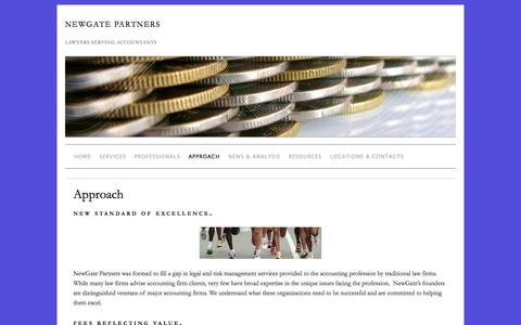 Screenshot of About Page newgatepartners.com - Approach » NewGate Partners - captured Oct. 1, 2014
