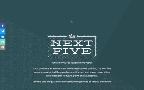 Screenshot of Landing Page hubspot.com - The Next Five | Where's Your Career Taking You? - captured Aug. 11, 2016