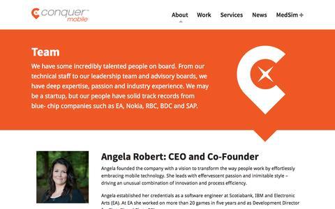 Screenshot of Team Page conquermobile.com - Team - Conquer Mobile - captured Oct. 3, 2014