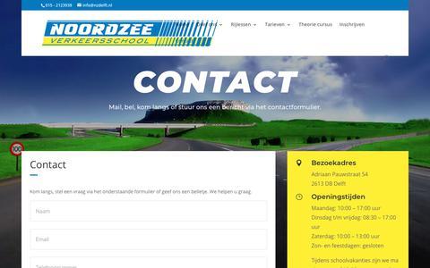 Screenshot of Contact Page nzdelft.nl - Contact - verkeersschool Noordzee - captured Sept. 25, 2018