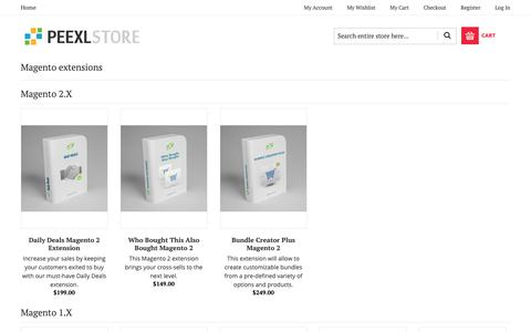 Screenshot of Products Page peexl.com - Magento Extensions, Addons & Modules - The Magento Extension Marketplace - captured Sept. 27, 2018