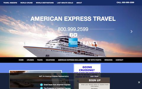 Screenshot of Home Page amttravel.com - AMT, An American Express Representative: Tours, Vacations, World Cruises. - captured Oct. 7, 2017