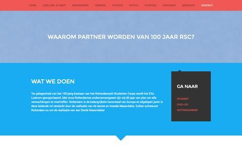 Screenshot of Contact Page rsclustrum.nl - Bedrijf – RSC Lustrum - captured Oct. 7, 2014
