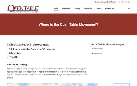 Screenshot of About Page Locations Page theopentable.org - Where is the Open Table Movement? - The Open Table - captured Oct. 19, 2018
