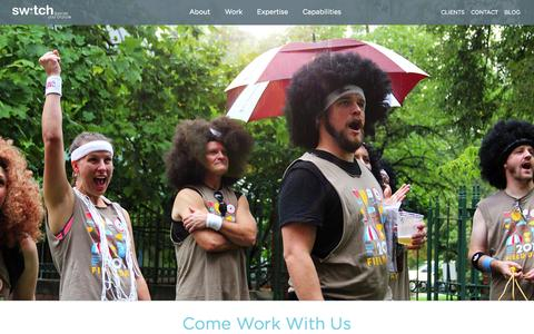 Screenshot of Jobs Page liberateyourbrand.com - Careers | Switch: Liberate Your Brand - captured Sept. 19, 2014