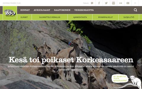 Screenshot of Home Page korkeasaari.fi - Korkeasaari - captured June 22, 2017