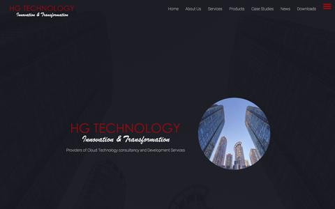 Screenshot of Home Page hgtechnology.co.uk - HG Technology - Innovation and Transformation - captured Sept. 25, 2018