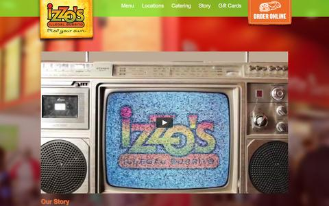 Screenshot of About Page izzos.com - About Us | Izzos.com - captured Feb. 11, 2016