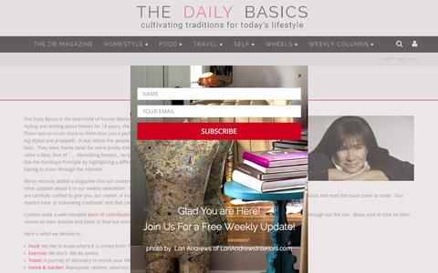 Screenshot of About Page thedailybasics.com - The Daily Basics - captured Nov. 23, 2015