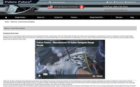 Screenshot of About Page futurofuturo.com - Futuro Futuro Company - About Us - captured Aug. 5, 2016