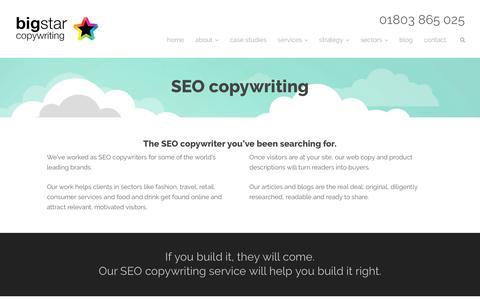 SEO Copywriting - Big Star Copywriting