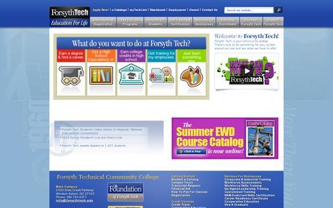 Screenshot of Home Page forsythtech.edu - Forsyth Tech - captured July 17, 2014
