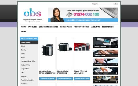 Screenshot of Products Page commercebusinesssystems.co.uk - Products | Photocopiers Bradford | Office Printers Blackpool | Photocopier Sales Hull - captured Oct. 2, 2014