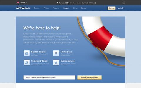 Screenshot of Support Page hellothemes.com - Support - Premium Magento Themes | HelloThemes | Templates - captured Sept. 19, 2014