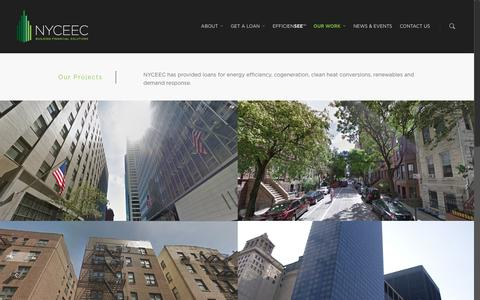 Screenshot of Case Studies Page nyceec.com - Our Work - NYCEEC - captured May 3, 2016