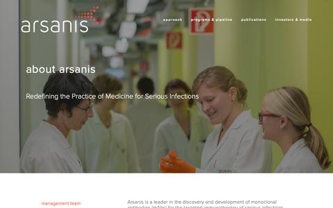 Screenshot of About Page arsanis.com - About – Arsanis - captured Oct. 19, 2018