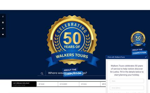 Screenshot of About Page walkerstours.com - About Walkers Tours Sri Lanka | Tour Operators - captured Jan. 16, 2020