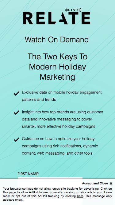 Holiday Marketing Webinar | Appboy