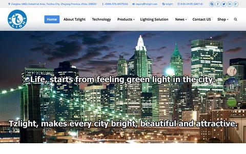 Screenshot of Home Page tzlight.com - Induction Lamp Manufacturer,Induction Lamps China - captured Jan. 26, 2015