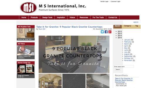 Screenshot of Blog msistone.com - M S International Blog | Education and information on natural stone | - captured Nov. 17, 2015