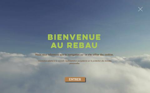 Screenshot of Home Page camping-lerebau.com - Le Rebau, camping cool, familial & ombragé avec piscine, Hérault (34) - captured July 11, 2018