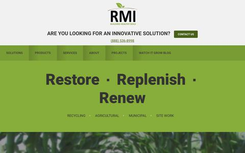 Screenshot of Home Page rmirecycles.com - Resource Management, Inc. - captured Oct. 21, 2017