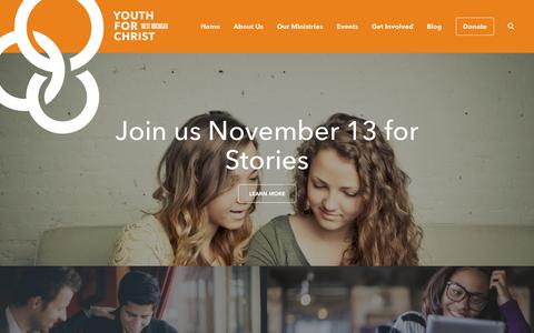 Screenshot of Home Page wmyfc.org - West Michigan Youth for Christ | West Michigan Youth for Christ - captured Oct. 6, 2014