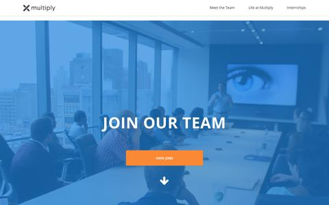 Screenshot of Jobs Page multiply.com - Careers at Multiply - captured Oct. 6, 2016