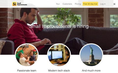 Screenshot of Jobs Page small-improvements.com - Small Improvements Careers: Java, jQuery, AngularJS - captured Sept. 18, 2014