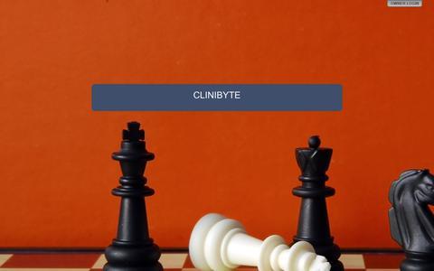 Screenshot of Home Page clinibyte.com - CLINIBYTE - captured Sept. 28, 2018