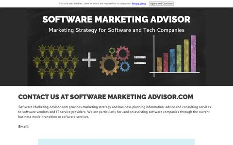 Screenshot of Contact Page software-marketing-advisor.com - Contact Software Marketing Advisor.com - captured Oct. 17, 2018