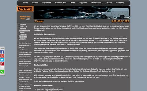 Screenshot of Jobs Page actionfabrication.com - Career-Action Fabrication and Truck Equipment - captured Oct. 4, 2014