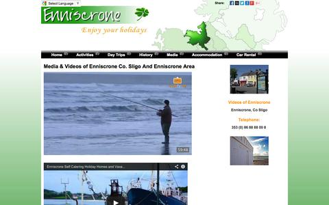 Screenshot of Press Page enniscrone.ie - Enniscrone Co Sligo Media - captured Sept. 30, 2014
