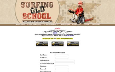 Screenshot of Signup Page surfingoldschool.com - SurfingOldSchool - captured Jan. 18, 2016