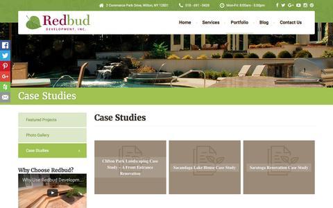 Screenshot of Case Studies Page redbuddevelopment.com - Case Studies - Redbud Development - captured Dec. 16, 2016