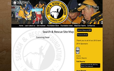 Screenshot of Site Map Page deschutessearchandrescue.org - Site directory - Deschutes County Search and Rescue Foundation - Bend, Oregon - captured Oct. 27, 2014