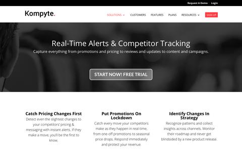 Competitor Tracking Alerts | Kompyte