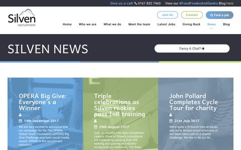 Screenshot of Press Page silven.co.uk - Silven News - Silven Recruitment - captured Oct. 18, 2018