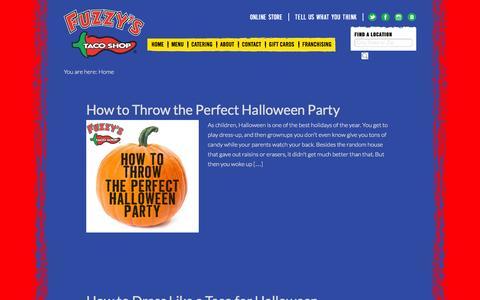 Screenshot of Blog fuzzystacoshop.com - Fuzzys Taco Shop Blog - Welcome to your new addiction. - captured Oct. 29, 2014